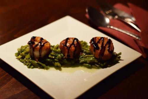 Scallops App Asparagus